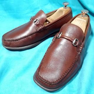 リーガル(REGAL)の美品★REGAL  ドライビングシューズ 40 25.0cm ブラウン 革靴(ドレス/ビジネス)