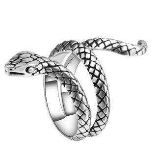 リング 指輪 蛇 スネーク スパイラル シルバー 開運 白蛇 へび ヘビ 爬虫類(リング(指輪))