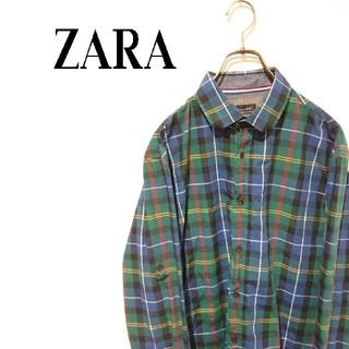 ザラ(ZARA)のZARA ザラ チェックシャツ ネルシャツ ボタンダウンシャツ(シャツ)