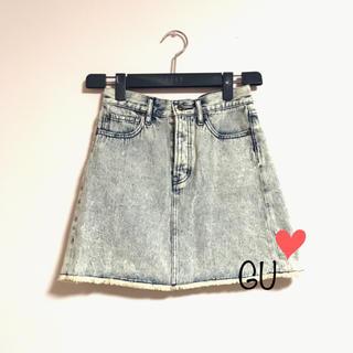 ジーユー(GU)のGU ♡ デニムミニスカート(ミニスカート)