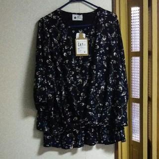 しまむら - ☆大きいサイズ  花柄七分袖ブラウス