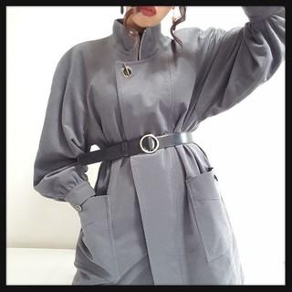 値下げ可♥*Vintageハイネックグレーオーバーコート♥*(チェスターコート)