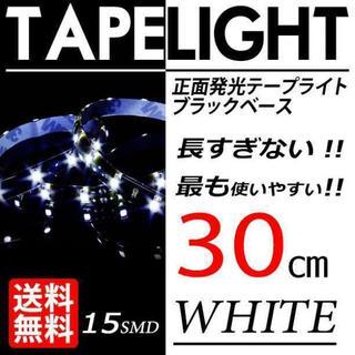 即使える!配線加工済みLEDテープライト 2本セット ホワイト 使える30cm (汎用パーツ)