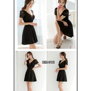 キャバドレス ワンピース Aライン Lサイズ ブラック(ナイトドレス)