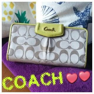 コーチ(COACH)の✨引越し処分特価っ❣️❣️【鑑定済】人気色っ❣️COACH❤シグネチャー柄長財布(財布)