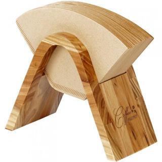 コーヒーペーパーフィルターホルダー スタンド 木製 100枚収納(テーブル用品)