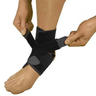 ズレにくい 足首サポーター 左右兼用 フリーサイズ 足首 負傷 負担 サポーター(トレーニング用品)