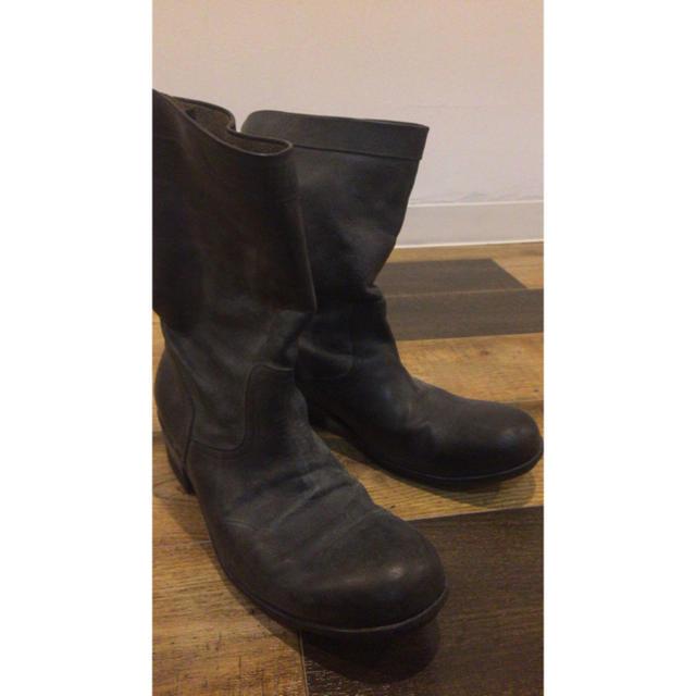 ATTACHIMENT(アタッチメント)のアタッチメント バックジップブーツ バケッタレザー カルペディエム ライダース メンズの靴/シューズ(ブーツ)の商品写真