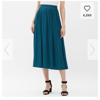 ジーユー(GU)のGU サテンスカート(ロングスカート)