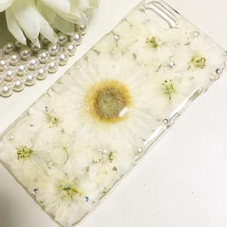 iPhone8・iPhone7ケース☆押し花ケース☆ガーベラ☆ピンク(スマホケース)