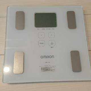 オムロン(OMRON)のオムロン体重計 HBF214☆体重体組成計 カラダスキャン(体脂肪計)