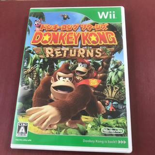 ウィー(Wii)のドンキーコング リターンズwii 中古品(家庭用ゲームソフト)