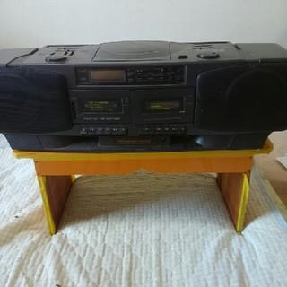 【ジャンク品】HITACHI  ラジカセ CX -33W(ラジオ)