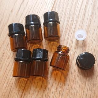 小分け瓶 1ml アンバー アロマオイル エッセンシャルオイル 遮光瓶 ドテラ(アロマグッズ)