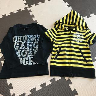 チャビーギャング(CHUBBYGANG)のロンT、半袖パーカー(Tシャツ/カットソー)
