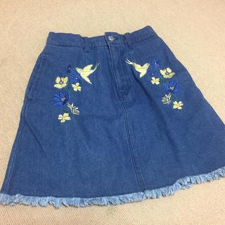 ザラ(ZARA)の刺繍スカート(ミニスカート)