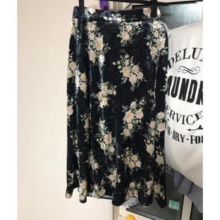 ジーユー(GU)の新品ジーユーベロアロングスカート サイズS(ロングスカート)