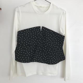 ジーユー(GU)のGU ドットペプラムT(Tシャツ(長袖/七分))