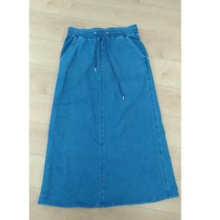 ジーユー(GU)のGU デニムスカート XL(ロングスカート)