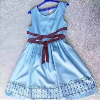 F i.n.t - f.i.n.t ウィンドウフェンスプリント ジャンパースカート 水色♡