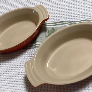 ルクルーゼ(LE CREUSET)のル・クルーゼ オーバル・ディッシュ 17cm オレンジ 2個(食器)