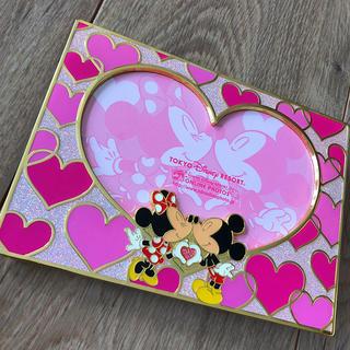 Disney - ディズニー Disney ミッキー ミニー ハート フォトフレーム 写真立て