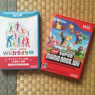 ウィー(Wii)のwiiソフト&wiuカラオケソフト2点セット(家庭用ゲームソフト)