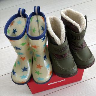 ダブルビー(DOUBLE.B)のダブルビー14cm長靴ブーツSET♡ミキハウスホットビスケッツ♡レインシューズ(長靴/レインシューズ)