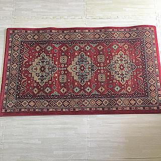 Francfranc - ペルシャ風ラグ レッド 絨毯 マット