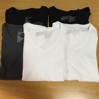 ムジルシリョウヒン(MUJI (無印良品))の無印 オーガニックコットンVネック半袖Tシャツ 5枚 s(Tシャツ(半袖/袖なし))