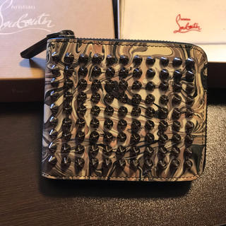 クリスチャンルブタン(Christian Louboutin)のChristian Louboutin  二つ折り マーブル 美品(折り財布)
