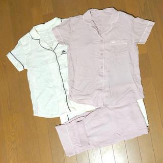 ジーユー(GU)のGU レーヨン100% サラサラパジャマ 半袖 長ズボン(パジャマ)