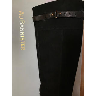 オゥバニスター(AU BANNISTER)の【再値下げ】オゥバニスター ブーツ 黒 美品 37(ブーツ)