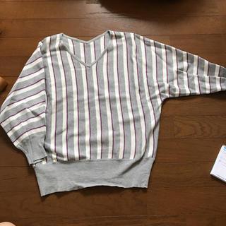 クリーン(CLEAN)の七分袖 トップス ストライプ柄(カットソー(長袖/七分))