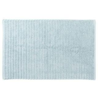 ムジルシリョウヒン(MUJI (無印良品))の新品 MUJI 無印良品 綿麻バスマット Sサイズ 36×60cm ライトブルー(バスマット)