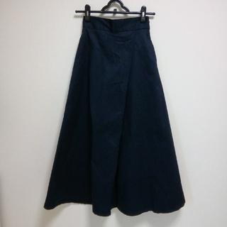 ジーユー(GU)のGU チノフレアマキシスカート サイズS(ロングスカート)