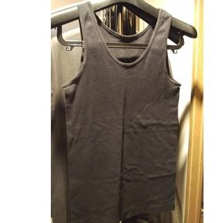 黒 インナー 綿100% 長め(アンダーシャツ/防寒インナー)