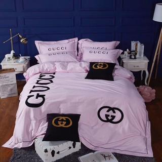 四季適用★希少!! 高級感 寝具カバー 2枚枕カバー 4点セット 掛け布団カバー