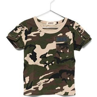 新品タグ付き AVIREX Tシャツ キッズ 140cm カモフラージュ柄