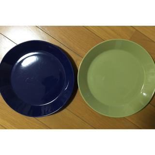 iittala - iittala イッタラ ティーマ 21㎝プレート 2枚セット ブルー&オリーブ