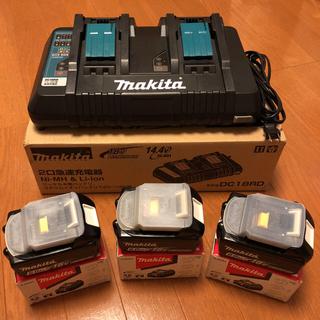 Makita - マキタ 18v/6.0Ahバッテリー 3個. 2個同時急速充電器 1台 セット