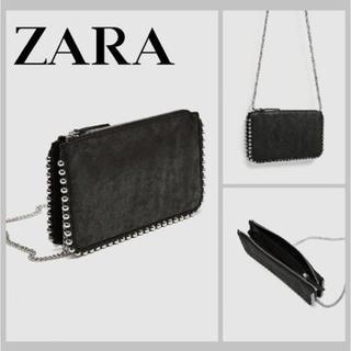 ザラ(ZARA)のZARA スタッズ付きクロスボディバッグ 新品(ショルダーバッグ)