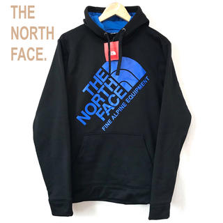 ザノースフェイス(THE NORTH FACE)の日本未発売 新品 ザ ノースフェイス パーカー ビッグロゴ S 黒 M相当(パーカー)