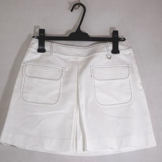 アダバット(adabat)の新品 adabat アダバット ペチ パンツ 付 スカート 40 L ホワイト(ウエア)