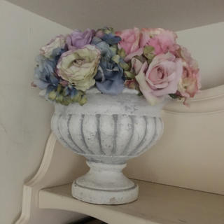 専用出品姫系ロマンティック鉢植えとキャニスター二個セット(プランター)