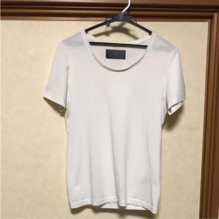 エイケイエム(AKM)のwjk Tシャツ カットソー ホワイト S(Tシャツ/カットソー(半袖/袖なし))