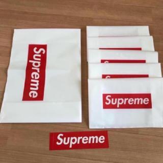シュプリーム(Supreme)のsupremeショップ袋 小5 大1 boxステッカー1枚(その他)
