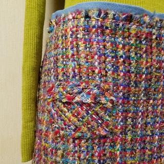 ザラ(ZARA)の美品 TOMORROWLAND トゥモローランド マカフィー ツイード スカート(ミニスカート)