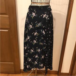 ジーユー(GU)のGU イレギュラーヘムスカート  サイズ L(ロングスカート)