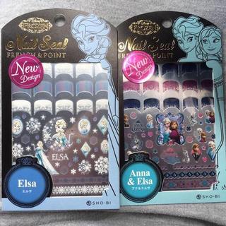 ディズニー(Disney)の新品 ネイルシール エルサ&アナ(ネイル用品)